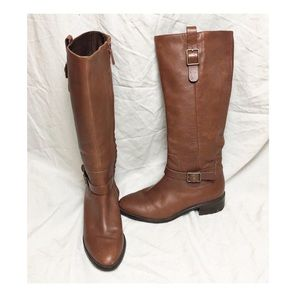 Cole Haan Kenmare leather tall riding boots